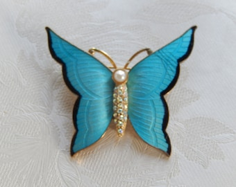 Butterfly Brooch, Vintage  Brooch, Insect Brooch, Gift for Her