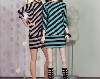 "Fashion Doll Kleid ""Diagonal"""