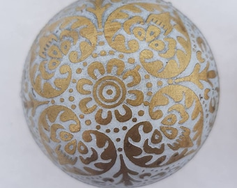 Light grey Brass Marrakesh Moroccan style Drawer Knob  -  Metal Upcycling Project