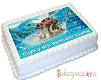 Moana A4 Edible Icing Cake Topper - EI110A4