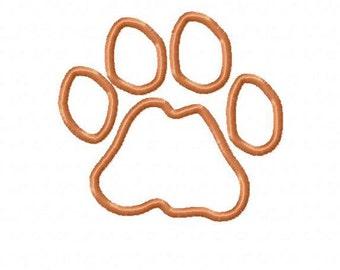 Lion Paw Print Embroidery Machine Applique Design 4025 INSTANT DOWNLOAD