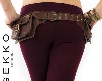 VEGAN LEATHER utility belt, fanny pack, hip bag, POCKEt BELT, hip pack, waist pack, festival clothing, Vlbelp