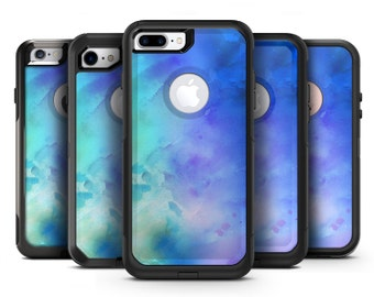 Teal 424 Absorbed Watercolor Texture - OtterBox Case Skin-Kit for the iPhone, Galaxy & More