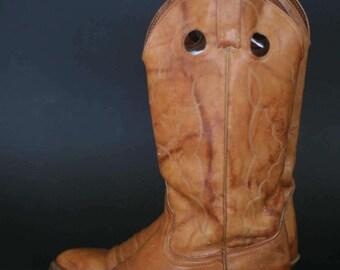 vintage acme leather cowboy boots men's size 7.5D