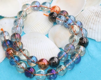10mm Colorful Quartz bead,Coloful beads, Gemstone, Natural Bead, Quartz Bead, Full Strand (40 Pieces), MRY44