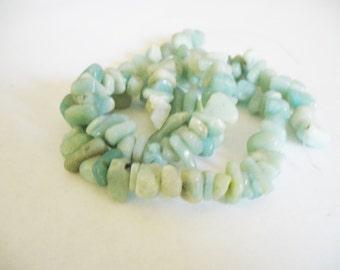 Amazonite Gemstone Beads Blues Chips 6-10mm