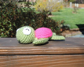 Crochet Pink Shelled Sea Turtle