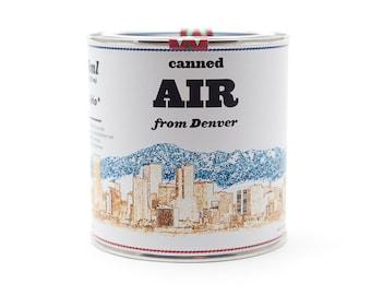 Original Canned Air From Denver, Colorado, USA, gag gift, souvenir, memorabilia
