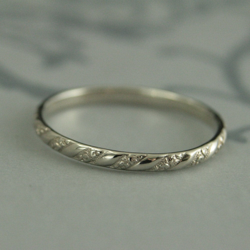 rings gold bands of thin grace white wedding texture hammered skinny band beautiful