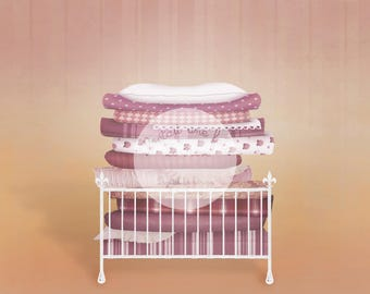 Princess and the pea digital background photograph 3