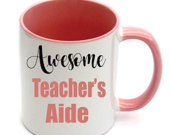 Awesome Teacher's Aide Coffee Mug Personalised Name