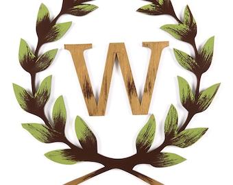 Personalized Laurel Wreath