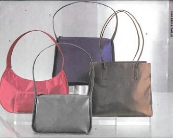 Butterick 6856 Handbags Purse Sewing Pattern 4 Designs Uncut