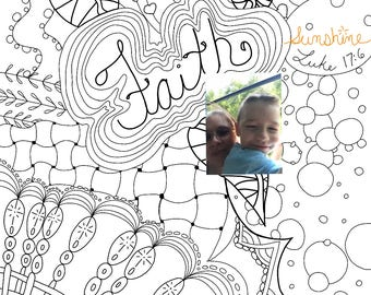 Faith, not just for Adult Coloring page PDF and PNG