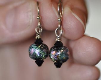 Multicolor Dichroic Earrings
