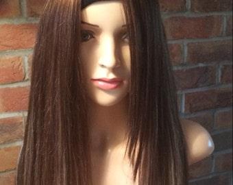 Stylish human hair bespoke wig 13years-Adult with side fringe