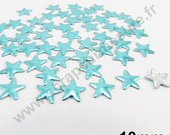 Fusible Star - Blue LAGOON - 10mm - x 50pcs