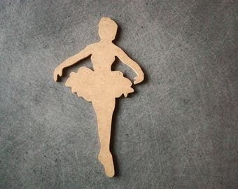 Dancer tutu MDF holder to decorate, paint 17 x 10 cm