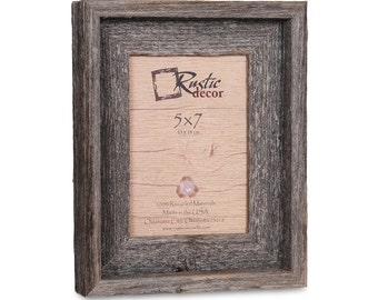 "5x7- 2"" wide Rustic Barn Wood Signature Photo Frame"