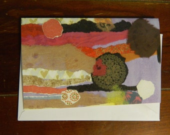 Chocolate Flowers blank greeting card with envelope, 5x7 glossy