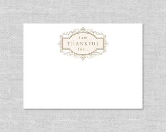 """printable THANKSGIVING """"i am thankful for"""" cards - dinner table cards - place cards - gratitude activity instant download - gratitude cards"""