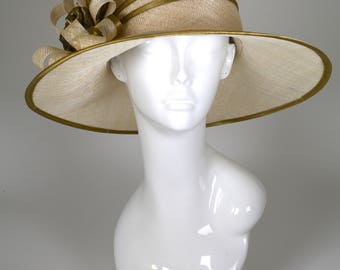 Exclusive Handmade 100% Sinamay Hat: Kentucky Derby, Royal Ascot, Easter, Mother's Day, Tennis Tournament, Polo, Tea Party, Hats Events
