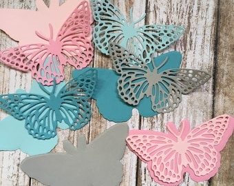 Butterfly Die Cuts Double Large butterflies Paper embellishments colorful scrapbook Сard making Сupcake toppers Wedding Baby shower Confetti