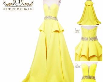 Yellow Summer Evening Gown