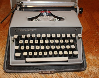 Typewriter Remington Monarch Typewriter Vintage Portable Typewriter Manual