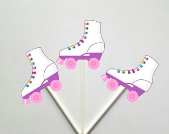 Roller Skate Cupcake Toppers
