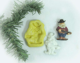 Santa silicone mold,  silicone Christmas mold, food mold. craft mold, soap mold,clay mold, # 20 s