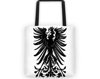 Eagle Crest White Designer Tote Bag
