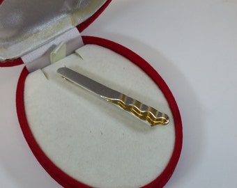 Tie pin partly gold plated Silver 925 K & L SB301