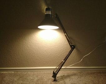 Industrial Underwriters Laboratories Vintage Swing Arm Lamp