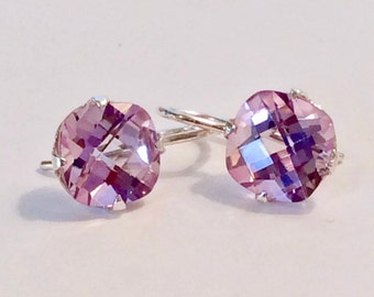 Lavender Topaz Hanger Earrings