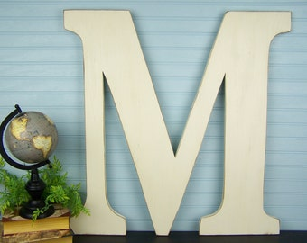 Big Letters Oversized Letters Large Wooden Letter M Letters for Wall Letters for Nursery 24 inch Letters Painted Letters Wood Letters M