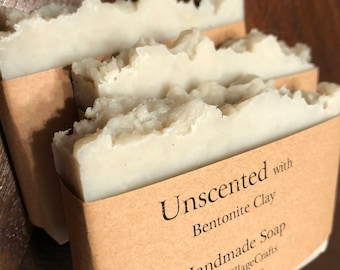 Unscented soap with bentonite clay (volcanic ash)