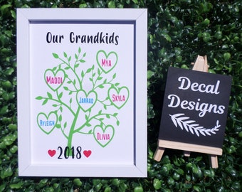 Custom made Family Tree, Mothers Day Gift, Personalised Gifts
