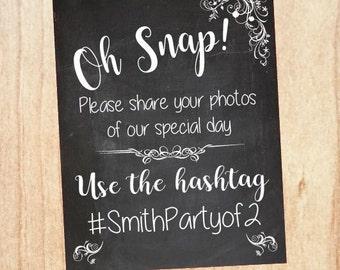 Wedding Hashtag chalkboard sign. Wedding Photo Booth welcome sign. Social Media hash tag. share. photobooth