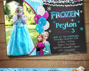 Free Disney Frozen Birthday Invitations ~ Frozen invitation etsy