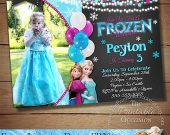 Frozen invitation etsy frozen birthday invitation stopboris Images