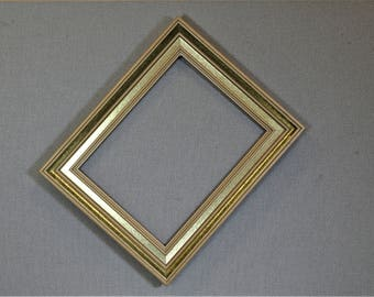 10x13 Frame Vintage Gold Two Tone Wood with Optional Custom Matting