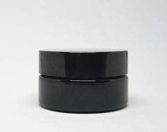 Miron Glass Cosmetic Jar wide mouth 30 ml violet glass jar 1 oz Scent Proof Tight fitting lid high quality UV blocking Violet glass