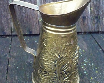 Small brass-toned pitcher - Made in England