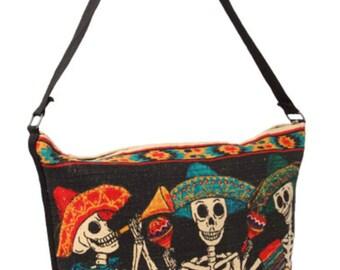 Mariachi skeleton purse