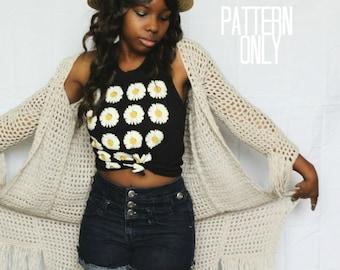 The Willow Crochet Cardigan Pattern. Instant Download. Crochet Pattern.
