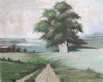 1976 landscape oil painting fauvism
