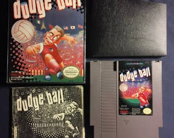 Super Dodge Ball Nintendo NES Video Game NA Version Almost Complete From 1988