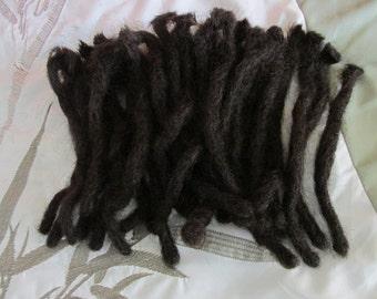 Human hair natural brown dreadlocks