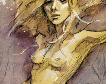 MIDSUMMER SPECIAL 25% OFF ~ Twilight Dryad ~  small print (5 x 7 inches)